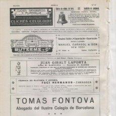 Catálogos publicitarios: HOJA PUBLICIDAD. AÑO 1914. ABOGADO.TOMAS FONTOVA. BARCELONA. JUAN GIRALT LAPORTA.LABORATORIOS. . Lote 13163587