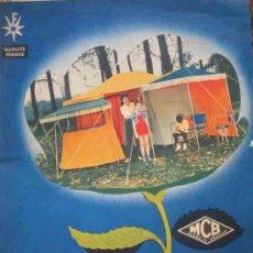 Catálogos publicitarios: CATÁLOGO MCB. ARTÍCULOS CAMPING. 1958. Lote 13241441