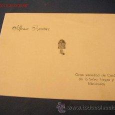 Catálogos publicitarios: CATÁLOGO DE RELOJES DE CUCÚS- ALFONSO RAMÍREZ- GRAN VARIEDAD DE CUCÚS DE LA SELVA NEGRA Y MINIATURAS. Lote 24966180