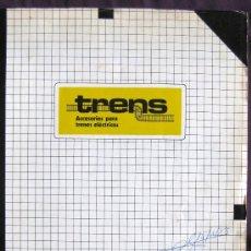 Catálogos publicitarios: CATÁLOGO PUBLICITARIO DE ACCESORIOS PARA TRENES ELÉCTRICOS 1981-82.. Lote 13454532