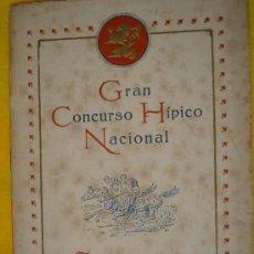Catálogos publicitarios: GRAN CONCURSO HÍPICO NACIONA. ZARAGOZA 1916. Lote 13614686