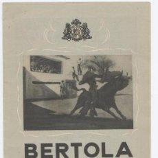 Catálogos publicitarios: FOLLETO - VINOS Y BRANDYS BERTOLA, S.A.. Lote 25447902