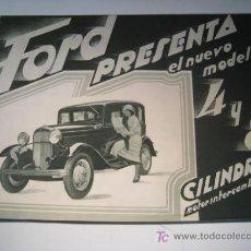 Catálogos publicitarios: FORD 4 Y 8 CILINDROS - 1920 - CATALOGO DESPLEGABLE. Lote 14124432
