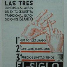 Catálogos publicitarios: CATÁLOGO DE LOS ALMACENES EL SIGLO. BARCELONA, PELAYO, 54.. Lote 15343645