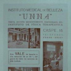 Catálogos publicitarios: PUBLICIDAD INSTITUTO MEDICAL DE BELLEZA. FÍSICA TERAPÉUTICA, MASAJE FACIAL, RAYOS X, ULTRAVIOLETAS... Lote 15353960