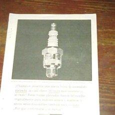 Catálogos publicitarios: BUJIAS CHAMPION. PUBLICIDAD HOJA DE REVISTA AÑO 1961. TAMAÑO: 19 X 13 CM. . Lote 14589798
