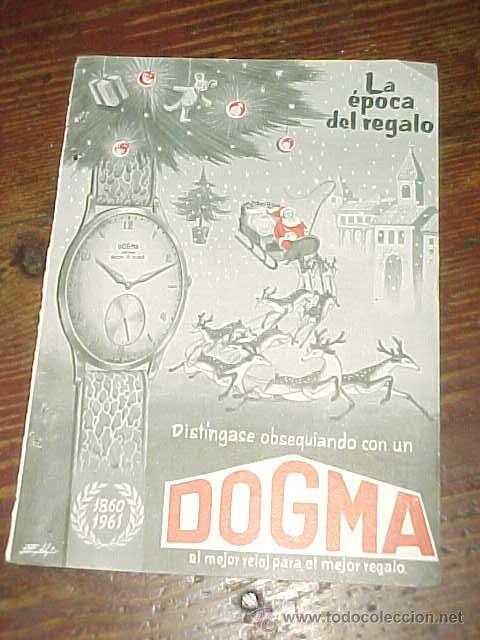 RELOJ DOGMA. PUBLICIDAD HOJA DE REVISTA AÑO 1961. TAMAÑO: 19 X 13 CM. (Coleccionismo - Catálogos Publicitarios)