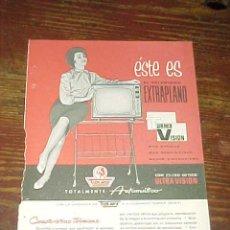 Catálogos publicitarios: TURMIX VISION. PUBLICIDAD HOJA DE REVISTA AÑO 1961. TAMAÑO: 19 X 13 CM. . Lote 14589892
