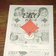 Catálogos publicitarios: EKO INSTANT. PUBLICIDAD HOJA DE REVISTA AÑO 1961. TAMAÑO: 19 X 13 CM.. Lote 14589914