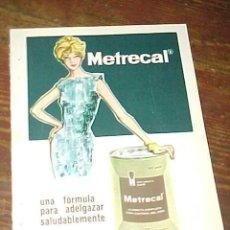 Catálogos publicitarios: METRECAL. PUBLICIDAD HOJA DE REVISTA AÑO 1961. TAMAÑO: 19 X 13 CM.. Lote 14589976