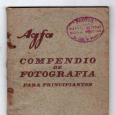 Catálogos publicitarios: COMPENDIO DE FOTOGRAFIA PARA PRINCIPIANTE DE LA MARCA AGFA. Lote 16606033