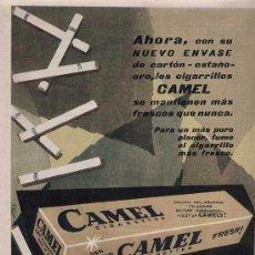 Catálogos publicitarios: PUBLICIDAD ANUNCIO DE TABACO CAMEL. . AÑO 1957. Lote 14662733
