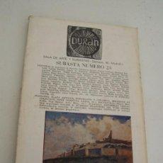 Catálogos publicitarios: DURAN, SUBASTA Nº. 23.- SALA DE ARTE Y SUBASTA-1971. Lote 14906063