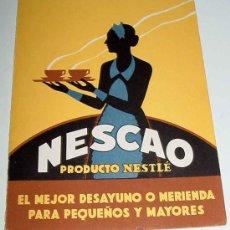 Catálogos publicitarios: ANTIGUO TRIPTICO DE PUBLICIDAD DE NESCAO - PRODUCTO NESTLE - EL MEJOR DESAYUNO O MERIENDA PARA PEQUE. Lote 15147307