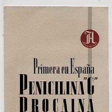 Catálogos publicitarios: CATALOGO DESPLEGABLE PUBLICITARIO DE FARMACIA. PENICILINA. SCHENLEY ANTIBIOTICOS. MADRID. Lote 15375368