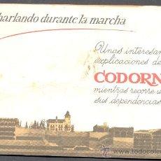 Catálogos publicitarios: CHARLANDO DURANTE LA MARCHA CODORNIU. Lote 15695479