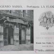 Catálogos publicitarios: HOJA PUBLICIDAD 1916 EUGENIO SERRÁ - PERFUMERIA LA FLORIDA BARCELONA. Lote 15963130