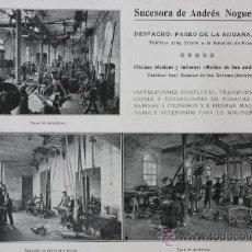 Catálogos publicitarios: HOJA PUBLICIDAD 1916 SUCESORA DE ANDRES NOGUERA BARCELONA. Lote 15963205