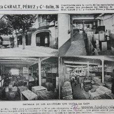 Catálogos publicitarios: HOJA PUBLICIDAD 1916 AGENCIA CARALT PEREZ Y CIA BARCELONA. Lote 15963207