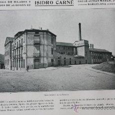 Catálogos publicitarios: HOJA PUBLICIDAD 1916 FABRICA DE HILADOS Y TEJIDOS ISIDRO CARNE BARCELONA. Lote 15963214