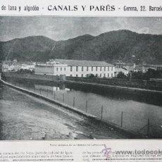 Catálogos publicitarios: HOJA PUBLICIDAD 1916 TEJIDOS DE LANA Y ALGODON CANALS Y PARÉS BARCELONA. Lote 15963217