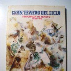 Catálogos publicitarios: GRAN TEATRO LICEO: INVIERNO 1965-66 - PROGRAMA. Lote 16211624