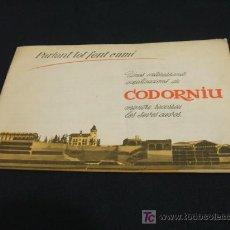 Catálogos publicitarios: CAVAS CODORNIU - UNES INTERESSANTS EXPLICACIONS MENTRE RECORREU LES NOSTRES CAVES - . Lote 18758026