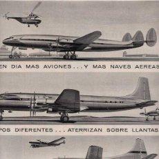 Catálogos publicitarios: PUBLICIDAD ANUNCIO PRODUCTOS PARA AVIACION GOODYEAR 34 X 25 CM.AÑO 1956. Lote 16774101