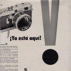Catálogos publicitarios: PUBLICIDAD ANUNCIO CAMARA FOTOGRAFICA CANON VT 34 X 25 CM.AÑO 1956. Lote 16774215