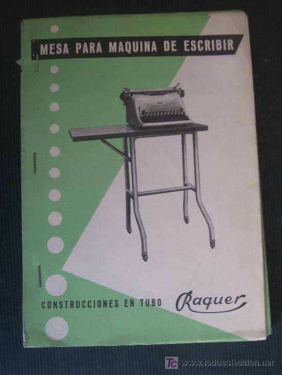 7 Folletos de mesas,taburetes y escaleras en tubo Raquer.Figueras ,año 1956. segunda mano