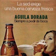 Catálogos publicitarios: PUBLICIDAD ANUNCIO DE CERVEZA AGUILA DORADA. MADRID. AÑOS 70. Lote 17322763