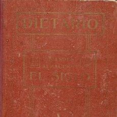 Catálogos publicitarios: DIETARIO GRANDES ALMACENES EL SIGLO - BARCELONA - AÑO 1915 - 284 PÁGINAS + PLANO BARCELONA 89X65 CM.. Lote 27124357