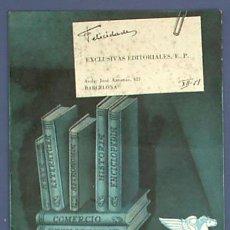 Catálogos publicitarios: 4 CATÁLOGOS DE EDITORIALES. 2 DE SALVAT, 1 ESPASA, 1 BIBLIOTECA SELECTA. 1949 - 51.. Lote 24168424