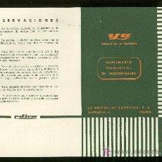 Catálogos publicitarios: DIARIO YA. 1958. TARIFA DE PUBLICIDAD. . Lote 18163116