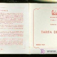 Catálogos publicitarios: BILBAO. DIARIO DE LA TARDE. TARIFA DE PUBLICIDAD. 1957.. Lote 18163137