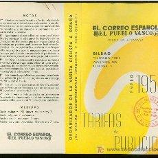 Catálogos publicitarios: EL CORREO ESPAÑOL. EL PUEBLO VASCO. 1958. BILBAO. TARIFA DE PUBLICIDAD.. Lote 18163158