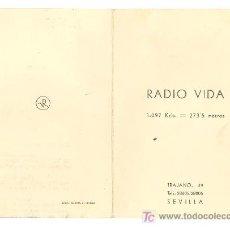 Catálogos publicitarios: SEVILLA. RADIO VIDA. TARIFA DE PUBLICIDAD.. Lote 18163170