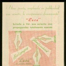 Catálogos publicitarios: PUBLICIDAD, MANUFACTURAS EUCA. TARIFA DE PRECIOS.. Lote 18163203