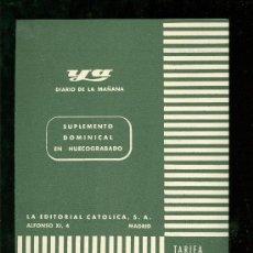 Catálogos publicitarios: YA. DIARIO DE LA MAÑANA. TARIFA DE PUBLICIDAD.. Lote 18167371