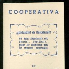 Catálogos publicitarios: VALENCIA. COOPERATIVA DE HOSTELERIA Y SIMILARES. 1953.. Lote 18167414