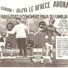 Catálogos publicitarios: PUBLICIDAD ORIGINAL MAQUINAS DE COSER ALFA.SORPRENDENTE MAQUINA DE TRICOTAR 302 AUTOMATIC.. Lote 25653588