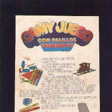 Catálogos publicitarios: PUBLICIDAD / ANUNCIO DE HELADOS CAMY /ORIGINAL ÉPOCA. Lote 22598881