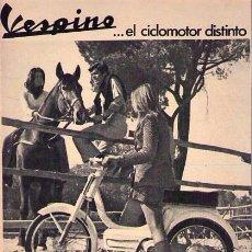 Catálogos publicitarios: PUBLICIDAD CICLOMOTOR / ANUNCIO VESPINO / ORIGINAL EPOCA. Lote 87183758