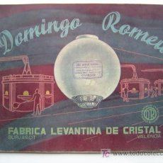Catálogos publicitarios: PRECIOSO CATALOGO FABRICA LEVANTINA DE CRISTAL DOMINGO ROMEU, BURJASOT (VALENCIA) - AÑO 1953. Lote 26676156