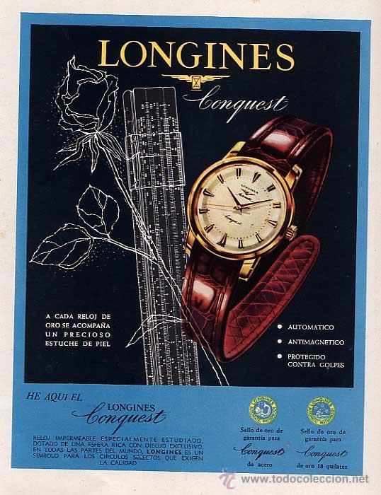 PUBLICIDAD, ANUNCIO DE RELOJ LONGINES. AÑO 1957 (Coleccionismo - Catálogos Publicitarios)