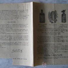 Catálogos publicitarios: FOLLETO DE FARMACIA,CEREGUMIL FERNANDEZ SANCHEZ.. Lote 19857268