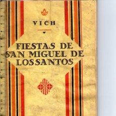 Catálogos publicitarios: PROGRAMA DE FIESTAS DE VICH, DEL AÑO 1929.. Lote 26232748