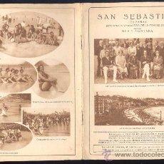 Catálogos publicitarios: AÑO 1928.- LIBRILLO DE PUBLICIDAD DE SAN SEBASTIÁN (RESIDENCIA VERANIEGA DE LA FAMILIA REAL). Lote 19939892