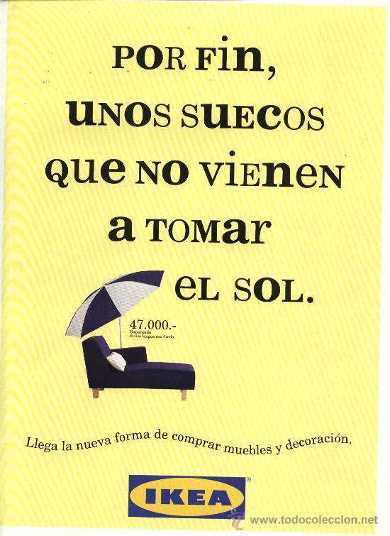 Díptico Publicidad Inaguración Ikea España Sept Sold Through
