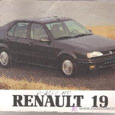 Catálogos publicitarios: CATALOGO RENAULT 19 - AÑO 1992 - . Lote 20060273